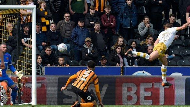 Jordan Rhodes scoring for Sheffield Wednesday