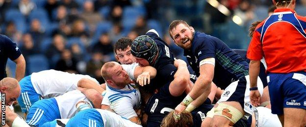 Scotland's scrum performed impressively against Italy