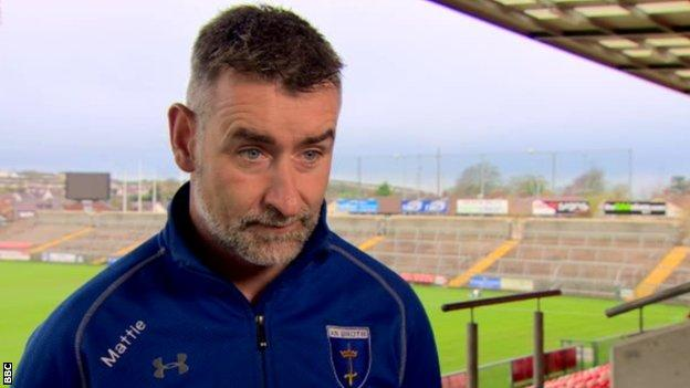 Scotstown manager Mattie McGleenan has no issues with playing Sunday's Ulster club final in Armagh