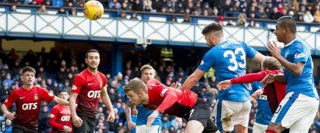 Rangers defender Russell Martin against Kilmarnock