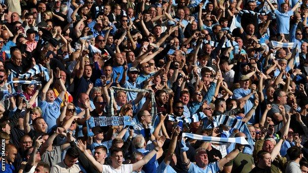 Manchester City supporters, Amex Stadium