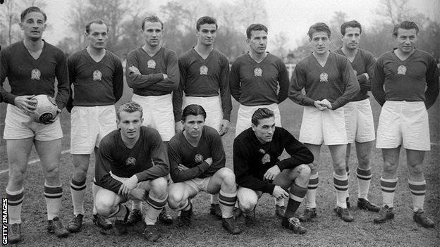 Hungarian team in the early 1950s