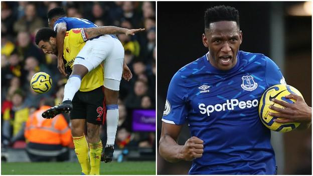 Mina engaged in several robust challenges with Troy Deeney and was key in ending Watford striker's fine run of scoring four goals in five games. Mina's defensive work was on times unorthodox but there can be no doubt that his two goals completely changed the fixture.