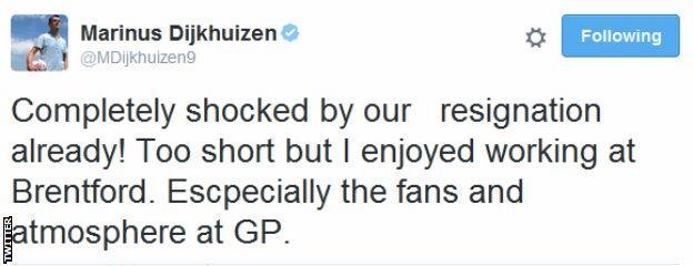 Marinus Dijkhuizen tweet