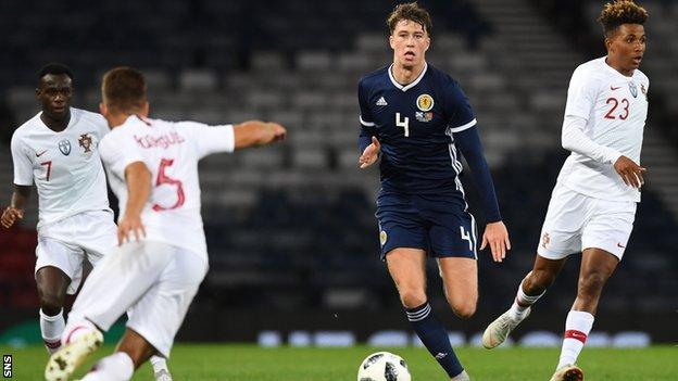 Jack Hendry won his three Scotland caps in 2018
