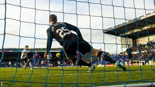 Liam Craig scores a penalty for St Johnstone against Inverness Caledonian Thistle