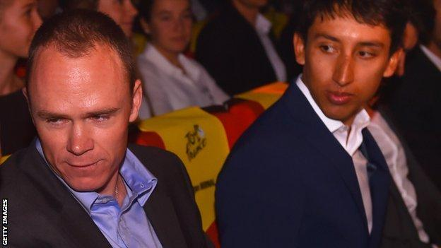 Chris Froome and Egan Bernal
