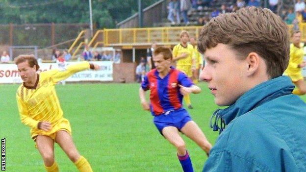 Lee Boxell, who went missing in 1988, watching his team Sutton United