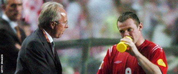 Sven-Goran Eriksson and Wayne Rooney