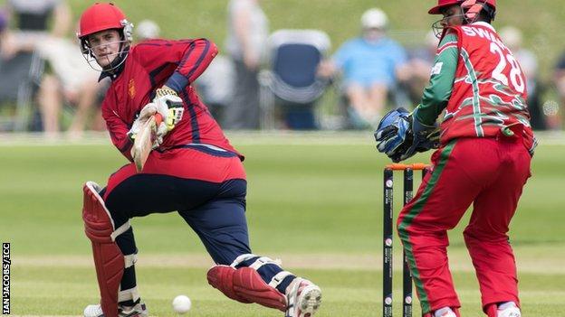 Anthony Kay batting v Oman