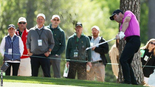Paul Casey in final-round action