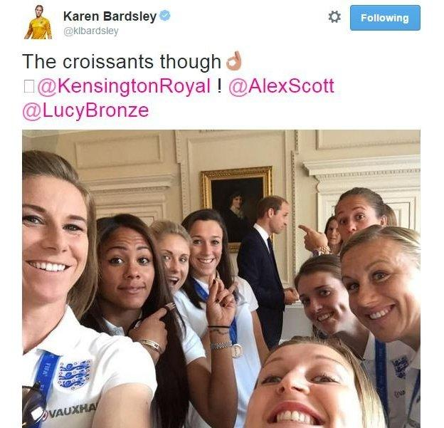 Prince William photo-bombs another England team selfie