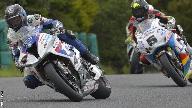 Guy Martin was in front of Bruce Anstey before crashing