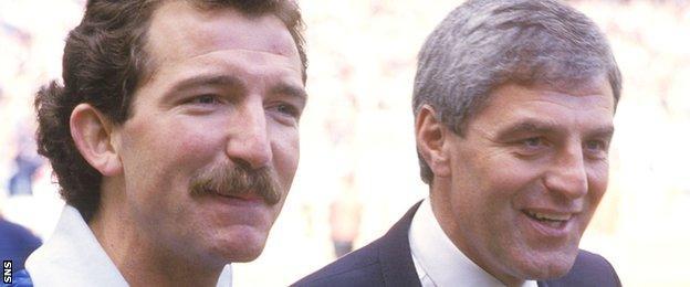 Graeme Souness and Walter Smith