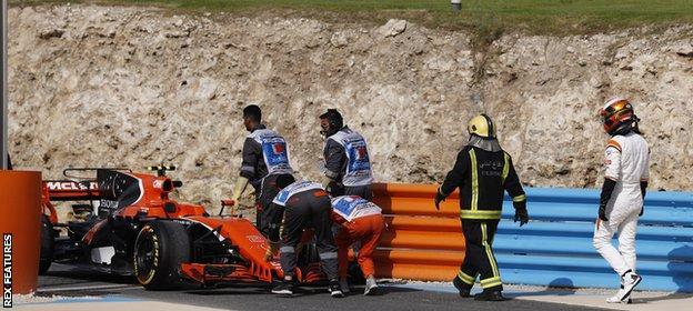 Stoffel Vandoorne of Belgium and McLaren Honda