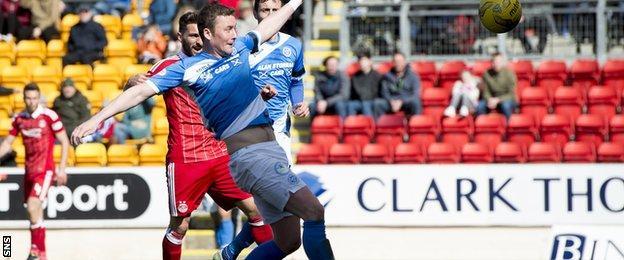 Tam Scobbie socres an own goal