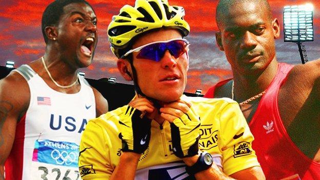 Justin Gatlin, Lance Armstrong and Ben Johnson