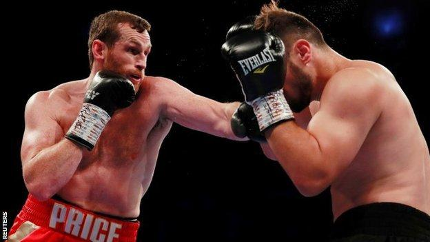 David Price proved too strong for British rival Dave Allen in his most recent win