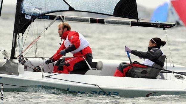 GB Skud18 crew of Niki Birrell and Alex Rickham