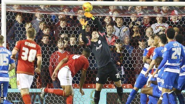 Michael Mancienne goes close for Forest