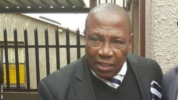 South Africa coach, Ephraim 'Shakes' Mashaba