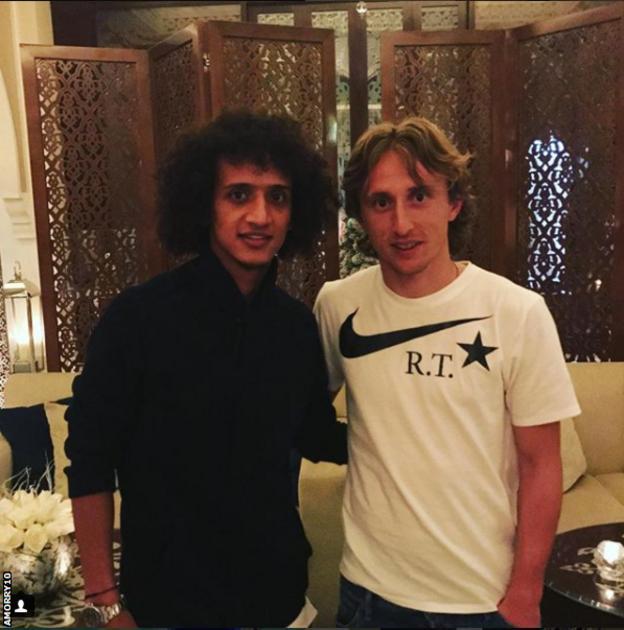 Omar Abdulrahman and Luka Modric
