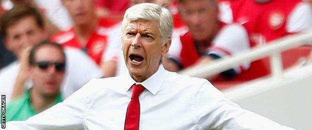 Arsene Wenger frustrated