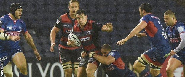 John Hardie played his first game for Edinburgh