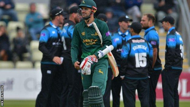 England opening batsman Alex Hales made only 13 back at Worcester, where he had a brief spell on loan in 2014