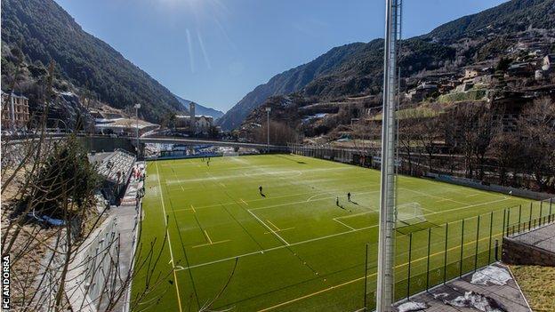 FC Andorra's Estadio Prada de Moles