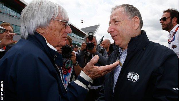 Bernie Ecclestone and Jean Todt