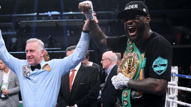 Wilder v Fury II: Deontay Wilder 'can't wait' for rematch with Tyson Fury thumbnail