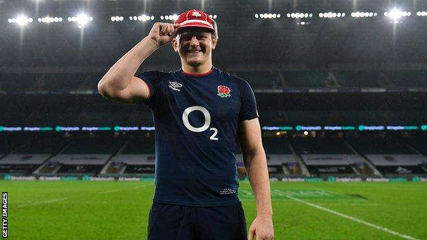 Jack Willis with his England cap