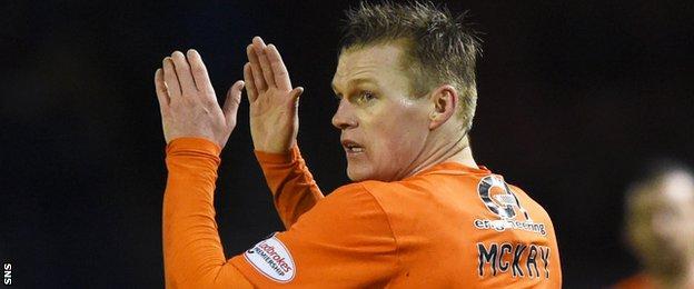 Dundee United striker Billy Mckay