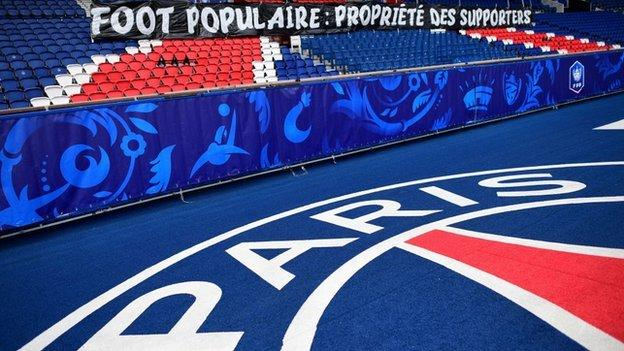 A banner at the Parc des Princes