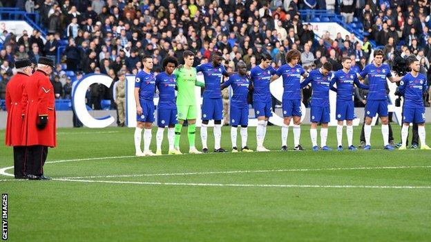 Chelsea minute's silence
