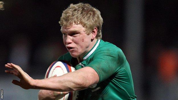 Nevin Spence on duty for the Irish Wolfhounds in March 2012