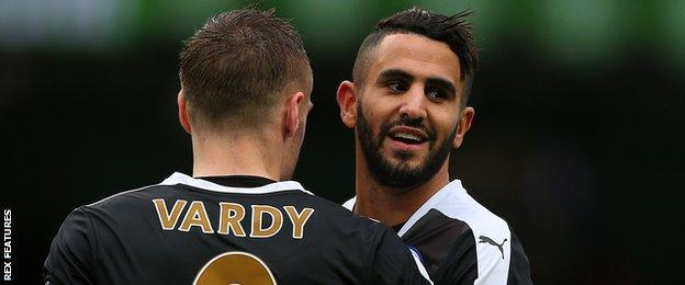 Jamie Vardy and Riyad Mahrez