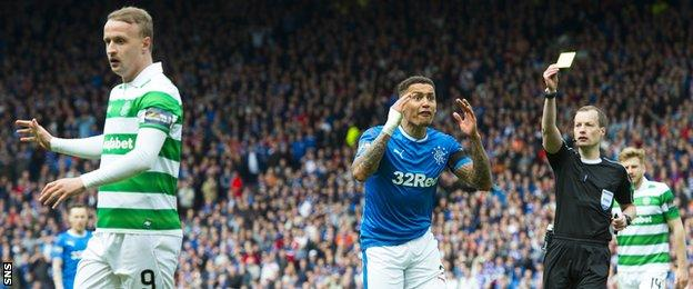 James Tavernier was adjudged to have brought down Leigh Griffiths in the Scottish Cup semi-final