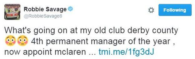 Football pundit and former Derby County midfielder Robbie Savage