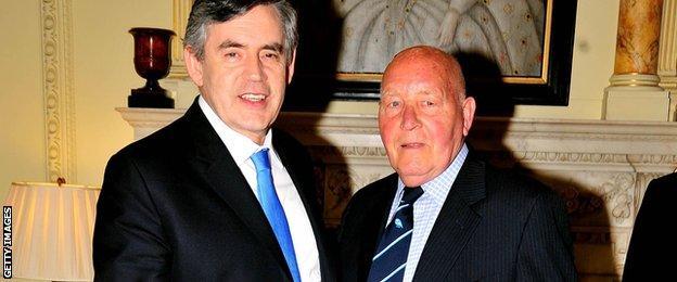 Ron Springett and Gordon Brown