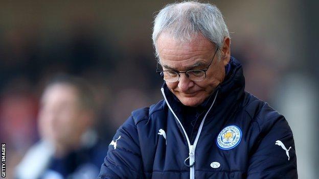Ranieri looks dejected