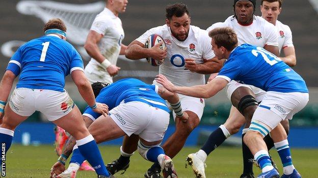 Billy Vunipola playing against Italy