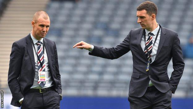 Kenny Miller and Lee Wallace at Hampden on Sunday