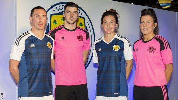 Scott Brown, Callum Paterson, Rachel Corsie and Leanne Crighton