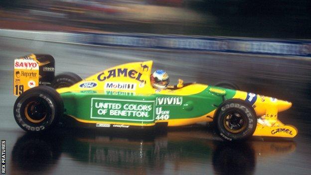 Michael Schumacher wins the Belgian Gran Prix in 1992