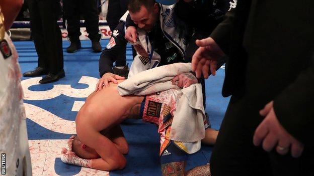Warrington dropped to his knees when the decision was read