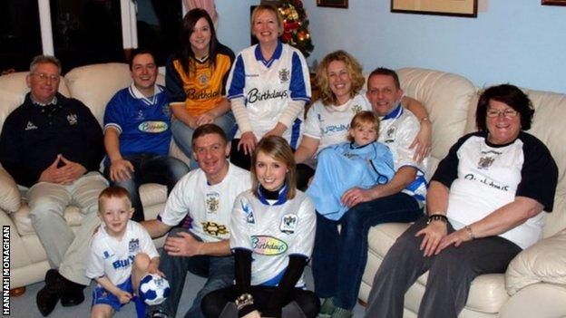 Hannah Monaghan and other Bury fans