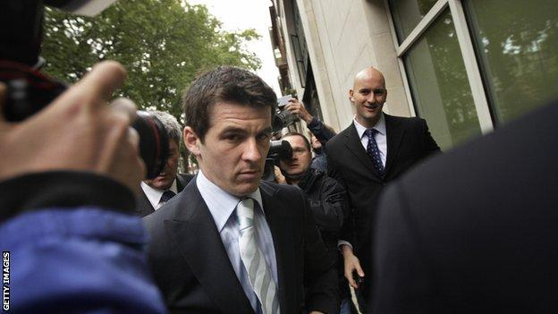 Joey Barton arriving at court
