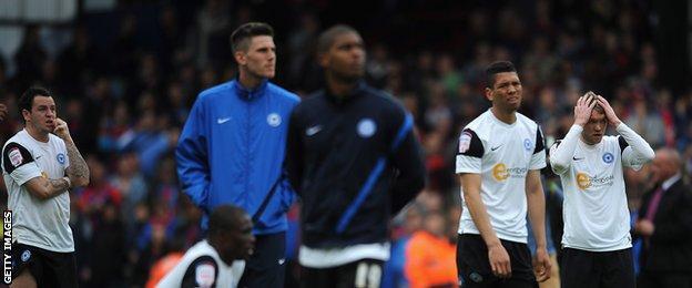 Peterborough relegated